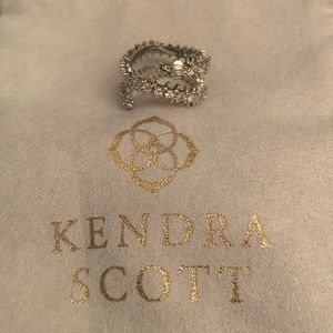 New Kendra Scott Silver Beck Band Ring